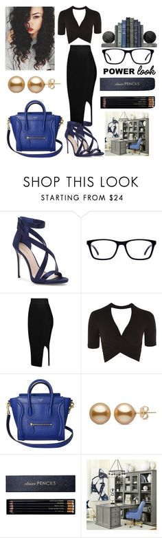 """""""power look"""" by queenjosie ❤ liked on Polyvore featuring Imagine by Vince Camuto, Topshop, Sloane Stationery and Ballard Designs"""