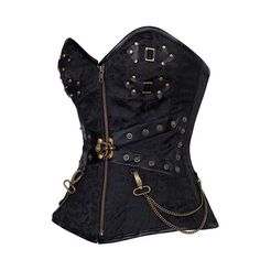 Cheap hardware bag, Buy Quality hardware factory directly from China hardware tools and machinery Suppliers:  Waist Training Corsets And Bustiers Plus Size Black Zip Front Steampunk Espartilhos Corset Corselet With Thong