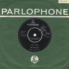 """For Sale - The Beatles I Feel Fine - 1st - EX UK 7"""" vinyl single (7 inch record) - See this and 250,000 other rare & vintage vinyl records, singles, LPs & CDs at http://eil.com"""