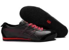 cheap for discount 0de83 af3f7 Mens Black Red Onitsuka Tiger Mexico 66 Running Shoes - Click Image to Close