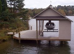 Boat+Dock+Designs | Boat lift safety switch is mounted inside the lockable closet for ...