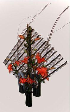 Floral Designs from Palomar District Flower Show, Flower Art, Transparent Design, Ikebana, Floral Designs, Art Designs, Flower Crafts, Floral Arrangements, Flower Arrangement