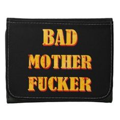 Bad mother fucker blood splattered vintage quote leather trifold wallets #bad #mother #fucker #pulp #fiction #movie #quote #badass #mofo #humor #funny #blood #vintage #gift #accessories #stuff