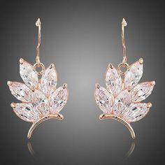 Butterfly Shaped Cubic Zirconia Drop Earrings  #rings #earrings #womensfashion #khaista #necklace #jewelry #dresses #fashion #women