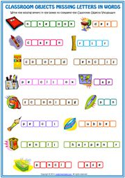 Classroom Objects Esl Printable Matching Exercise Worksheets For ...