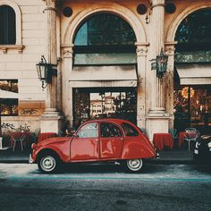 Lensblr: Red car - Rome - Italy - 2014 by Enrica Brescia...