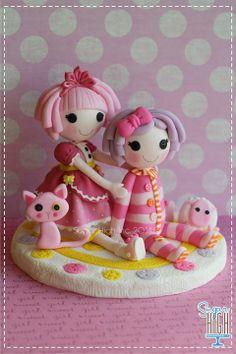 Sugar High, Inc. super cute kawaii la la loopsy birthday cake topper decoration or mini clay figure , I want one