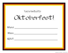 Free Printable Oktoberfest Invitation