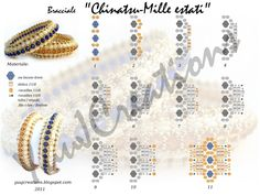 YUCAJD: Bracciale Chinatsu - Mille estati Not in English but diagrams are clear.Bracelet Chinatsu - A thousand summersMiyuki / Toho Archives - Page 2 of 3 - Abalorios Alana Glass BeadsEnhanced view of previous pin A beaded ring is also possible wit Beaded Braclets, Beaded Bracelets Tutorial, Beaded Bracelet Patterns, Jewelry Patterns, Diy Bracelet, Seed Bead Jewelry, Beaded Jewelry, Handmade Jewelry, Jewellery