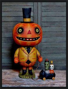 3 New Halloween pieces from Greg Guedel sell within minutes! Halloween Art Projects, Halloween Artwork, Halloween Items, Halloween Pictures, Halloween Boo, Holidays Halloween, Halloween Pumpkins, Retro Halloween, Halloween 2020