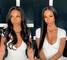Virgin Human Hair Bundles, Lace Frontal Wigs Shop Online -IE Hair Goddess Hairstyles, Weave Hairstyles, Baddie Hairstyles, Lace Front Wigs, Lace Wigs, Hair Extensions For Short Hair, Luscious Hair, Hair Density, Peruvian Hair