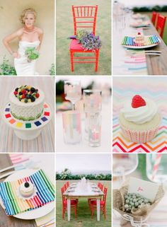 RAINBOW WEDDING RECEPTIONS | bright-wedding-color-inspiration-rainbow-weddings-outdoor-reception ...