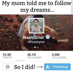 Well I don't have a Twitter but It's my dream to meet him and a lot of other people..... :')