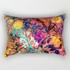 Floral and Birds II Rectangular Pillow