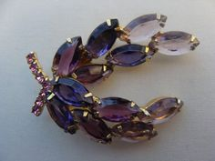 Vintage Lavender Pink and Purple Rhinestones by TheClassyLady