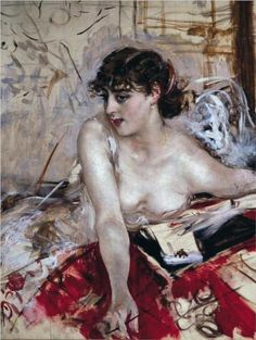 """Morning Letter"", 1884, by Giovanni Boldini (Italian, 1842-1931)."