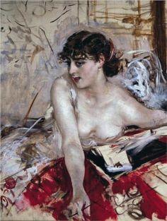 Morning letter  - Giovanni Boldini