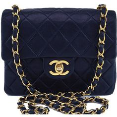 Pre-Owned Chanel Navy Blue Classic Quilted Square Mini 2.55 Flap Bag