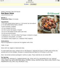 Red bean salsa