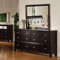 Acme Furniture - Oxford Dresser with Mirror Set in Espresso/Black - 14305C-08C