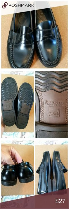 Sperry Top-Sider kids black penny loafers Brand new without tags or box. Genuine leather Sperry Top-Sider Shoes Dress Shoes