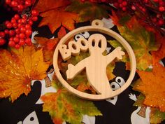 Halloween ghost ornament Hand crafted by Sean by carvingsbysean, $10.00