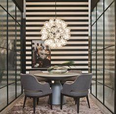 eh!DÉCOR - Iluminação da sala de jantar, pendentes e lustres leves e modernos. Veja + no blog.