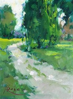 """Daily Paintworks - """"Planting field path"""" - Original Fine Art for Sale - © Howard Rose"""