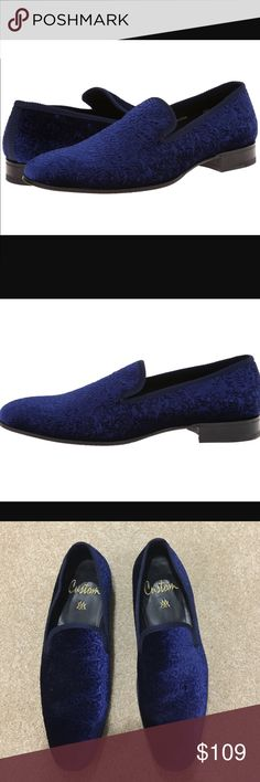 Men's Mezlan Velvet Loafer Men's Mezlan Slip-On Dresdan Loafer, size 11.5. Dresden is an elegant Venetian slip-on for formal or dress-casual occasions, in embossed blue Velveteen fabric with peau de soie-trimmed throat and full custom leather sole. Injected memory foam comfort insole. Handmade in Spain. Great condition, minimal wear.  20% off 3+ items in my closet, Bundle & Save!!! Mezlan Shoes Loafers & Slip-Ons