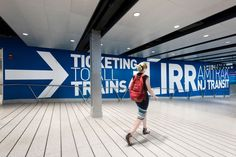 Penn Station West End Concourse - Wayfinding System | by Pentagram