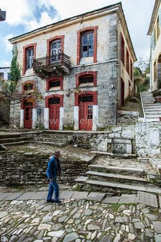 Old house in Zagora village - Pelion. Places In Greece, Greek Design, Greece Travel, Greek Islands, Adventure Travel, Travel Inspiration, Travel Destinations, Places To Go, Beautiful Places