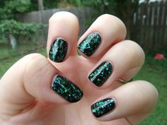 Orly Mermaid Tale (layered over a black base)
