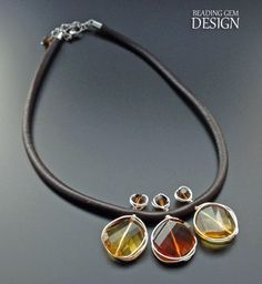 Wire Wrapped Crystal Leather Necklace Tutorial ~ The Beading Gem's Journal