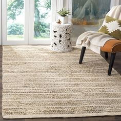 Safavieh Natural Fiber Contemporary Handmade Bleach Jute Rug (8' x 10') | Overstock.com Shopping - The Best Deals on 7x9 - 10x14 Rugs