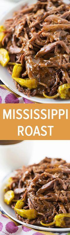 This Mississippi Roast involves a slow cooker, five simple ingredients, zero effort, 100% dinner & leftover satisfaction!
