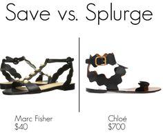 Save vs. Splurge: Chloe sandals