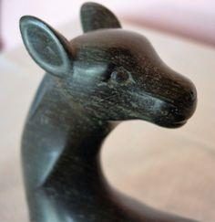 Carved Soapstone Deer Figurine Approx. 6.5 x 4.5 door GrammyGrover