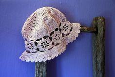 FREE PATTERN SUMMER HAT CROCHET | Over 400 Free Crocheted Hat Patterns at AllCrafts.net