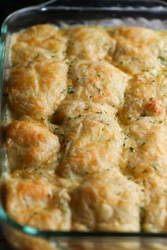 Cheesy Chicken Crescent Bake is easy SO good and guaranteed to be a family favorite! #cookiesandcups #dinner #easy #chicken #recipe #crescentrolls Chicken Thights Recipes, Chicken Parmesan Recipes, Easy Chicken Recipes, Baked Chicken, Chicken Meals, Recipe Chicken, Chicken Soup, Healthy Chicken, Chicken Salad