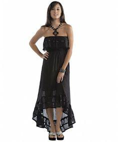 Women's Black Hi-Low Dress by Rancho Estancia