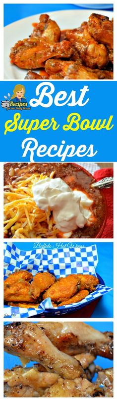 Best Super Bowl Football Food -Are you looking for Super Bowl Football Food?  This Best Super Bowl Recipes post includes Chicken Wings, Garlic Fries, Chili, Dips, Nachos, Onion Rings, Fried Pickles and more this post is for you. SEE RECIPES: http://recipesforourdailybread.com/best-super-bowl-recipes/