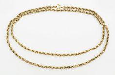 An 18 Karat Yellow Gold Rope Necklace. Lot 165-7024