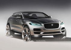 Jaguar F Pace Design Sketch Render