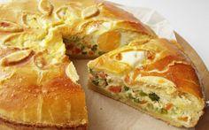 Slaný koláč se zeleninou Dessert Drinks, Dessert Recipes, Gnocchi, Vegetable Pie, Braided Bread, European Cuisine, Hungarian Recipes, Hungarian Food, Food Names
