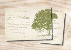 VINTAGE OAK TREE Rustic Wedding by PaperHeartCompany on Etsy