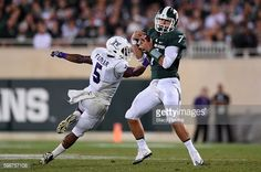 News Photo : Tyler O'Connor of the Michigan State Spartans...