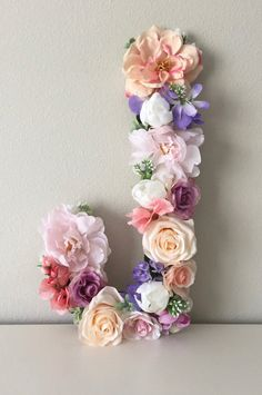 Birthday Gifts For Mom From Baby Girls 15 Ideas Flower Letters, Flower Wall, Big Letters, Boho Baby Shower, Bridal Shower, Faux Flowers, Paper Flowers, Ideas Geniales, Floral Garland