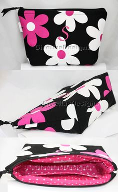 Personalized Large Makeup bag/ Large Cosmetic/ Customized to your specifications/ many fabrics to choose from