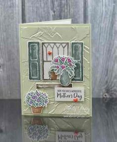 Card Making Tips, Making Ideas, Mothersday Cards, Personalised Family Tree, Window Cards, Stamping Up Cards, Flower Cards, Greeting Cards Handmade, Homemade Cards