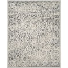 Shop Safavieh Carnegie Rug Cream/Dark Grey Rectangular Indoor Machine-Made Distressed Area Rug (Common: 8 x Actual: W x L x Dia) at Lowe's Canada. Find our selection of area rugs at the lowest price guaranteed with price match. Casual Living Rooms, Family Room Design, Family Rooms, Old World Style, Traditional Area Rugs, Grey Rugs, Gray Area Rugs, Dark Grey Rug, Colorful Rugs